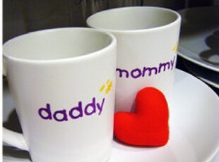 mommy daddy情侣杯子一对套装对杯创意水杯泰国human touch正品,杯子,