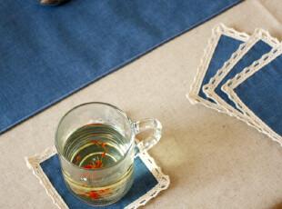 【10片包邮】老屋家居布艺手工创意中国风杯垫碗垫隔热垫茶道配件,杯子,