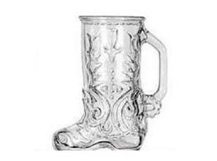 超好手感靴子款啤酒杯特饮杯 玻璃酒杯 创意啤酒酒杯 杯 带把手,杯子,