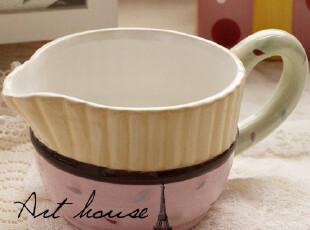 出口欧美波点浮雕蛋糕奶杯 外贸手绘陶瓷水杯 奶杯 咖啡杯 杯子,杯子,