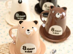 懒角落★创意家居 韩版 可爱卡通 小熊 随手杯水杯咖啡杯 33208,杯子,