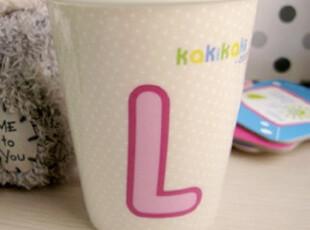 Kaki-L字母杯/陶瓷杯/卡通杯/趣味水杯/组合杯/爱情生日礼物,杯子,
