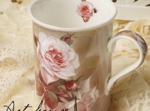 出口欧美外贸陶瓷花之语 优质 杯子 陶瓷杯子 真骨瓷 牛奶杯,杯子,