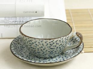瑕疵特价 超值!日式青花咖啡杯 碎花茶杯 杯碟一套 售罄不补,杯子,