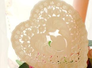 『韩国网站代购』浪漫蕾丝心形杯垫盘托纸10P,杯子,