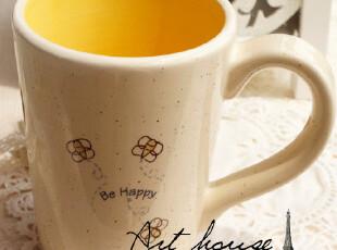 出口欧美田园风陶瓷水杯 外贸手绘陶瓷水杯 奶杯 咖啡杯 杯子,杯子,