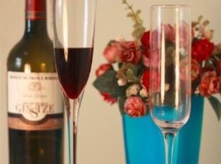 出口 原单 手工玻璃 香槟杯 简约造型 纯色透明 新年礼物,杯子,