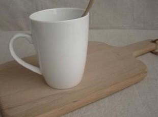 陶瓷简单象牙白色水杯 牛奶杯 圆底,杯子,