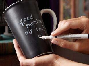 2010星巴克纪念版黑色杯 马克杯 大容量杯子 简约黑色 爱情留言,杯子,