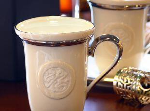 简爱家居 正品 福餐盖杯 高档陶瓷杯子 带盖茶杯 商务送礼 礼盒装,杯子,