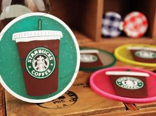 starbucks 限量星巴克 橡胶防滑垫杯垫隔热垫可爱创意餐垫子 19款,杯子,