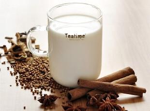 teatime人工吹制耐热玻璃马克杯子 可微波牛奶杯质感玻璃杯 水杯,杯子,