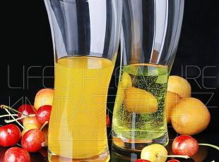 泰国Ocean海洋 进口透明玻璃杯 果汁杯 水杯 杯子 海浪杯 个性杯,杯子,