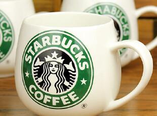 星巴克(starbucks) 苹果杯子 陶瓷杯马克杯 咖啡杯牛奶杯 特价~,杯子,
