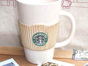星巴克 超大 咖啡杯 粗陶 马克杯 水杯 奶杯,杯子,
