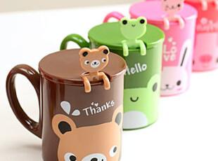 懒角落★创意家居 韩版 可爱卡通动物 塑料 水杯随手杯 33197,杯子,
