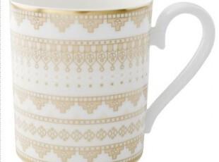【纽约下城公园】Villeroy&Boch 德国维宝金色马赛克图案手杯,杯子,