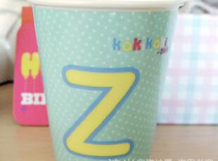 正品KAKIKAKI 字母Z 字母杯 情侣杯 陶瓷杯 咖啡杯 创意杯 水杯子,杯子,