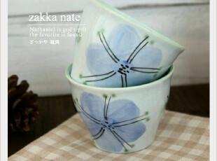 日本原单 日式清新淡雅青花陶瓷茶杯 茶碗 杯具 和风系列,杯子,