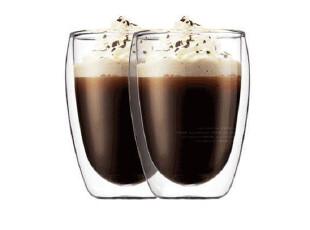 外贸出口 BODUM双层玻璃杯隔热杯有保温功能无把手 360ML,杯子,