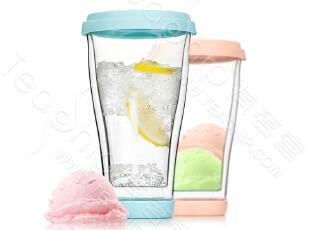 VATIRI  新品 玻璃杯 水杯 双层带盖 创意 杯子 多色 BL0102,杯子,