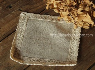 Fan's zakka杂货 棉麻品。花边棉布杯垫,杯子,