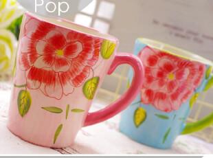 灿烂花开。韩式水杯子 外贸陶瓷收纳 法式公主风格 小清新情侣杯,杯子,