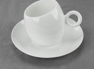 出口外贸 欧式创意 骨瓷 美式 奶杯/大咖啡杯碟套装 Pure[Coffee],杯子,