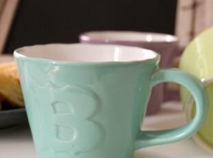 外贸陶瓷餐具 BIA卡哇伊3色杯组 出口 西餐餐具  咖啡杯 牛奶杯,杯子,