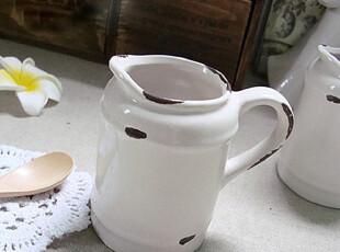 zakka外贸仿搪瓷怀旧陶瓷奶杯 做旧陶瓷小奶壶 陶瓷小花器,杯子,