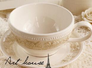 出口欧美欧式浮雕复古陶瓷咖啡杯碟 马克杯 奶杯 茶杯 杯子,杯子,