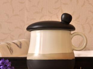 Cappuccino亚光家居美物.蘑菇帽陶瓷盖杯/马克杯/水杯买2个包邮,杯子,