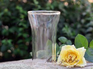 BAO ZAKKA 杂货 纯手工吹制灯工玻璃 高款敞口 双层隔热杯,杯子,