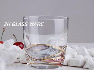 欧式原单蒂凡尼风格【22K金饰古典L32】水杯玻璃杯/威士忌杯,杯子,