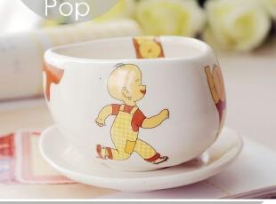 调皮的小P孩儿。小破孩儿卡通牛奶杯子 早餐套装 儿童创意可爱杯,杯子,
