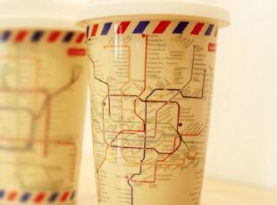 新品 KAKIKAKI地铁杯 创意陶瓷环保马克杯 星巴克风格杯子水杯,杯子,