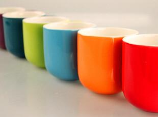 【彩虹杯】德国ASA亮丽色釉马克杯原单 大号彩虹杯 6色入水杯茶杯,杯子,
