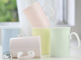 骨瓷杯 咖啡杯 马克杯 浮雕釉中彩杯 田园小清新-素颜,杯子,