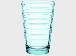 Iittala 无铅水晶玻璃-水绿色大号水晶涟漪杯  2只装 玻璃杯,杯子,