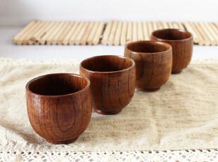 树品世家 出口日本 茶具茶道 功夫小茶杯 日式木杯 小号木水杯,杯子,