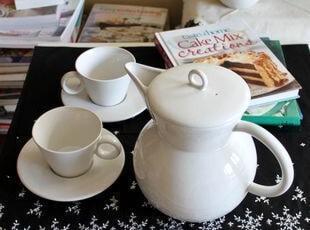 """外贸陶瓷英国皇家ROYAL Doulton""""猫头鹰""""欧式壶杯蝶/咖啡壶套装,杯子,"""