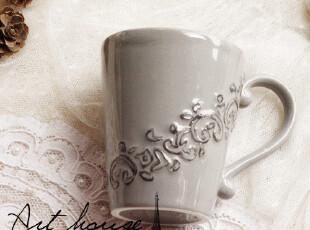 出口欧美星巴克风浮雕复古陶瓷咖啡杯 水杯 奶杯 茶杯 杯子,杯子,
