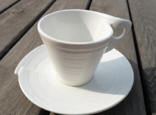 宜家风格 简约层次感陶瓷意式浓缩咖啡杯-岁月 套装 杯碟 90ml,杯子,