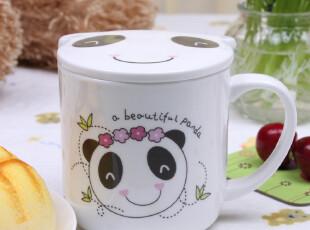 马克杯咖啡水情侣杯儿童卡通杯子创意杯子可爱骨瓷杯陶瓷杯带盖,杯子,
