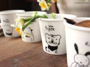 Bao ZAKKA 高温骨瓷 插画 生肖杯 12款可选,杯子,