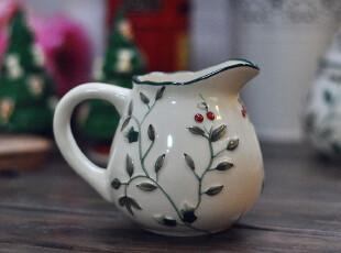【欧美原单】北美红雀冬青浆果拉花杯 咖啡奶罐 小青果 正品 外贸,杯子,