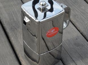 亿客 正品Tiamo速拆意式摩卡壶 咖啡壶 电磁炉煮咖啡 3杯 赠垫圈,杯子,