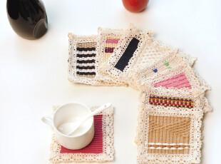 纯棉编织 隔热杯垫|餐垫|茶杯垫|碗垫 杯垫 11*11cm 随机发,杯子,