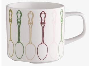 英国品牌 habitat 复古餐勺马克杯 水杯 茶杯牛奶杯早餐杯 叠罗杯,杯子,