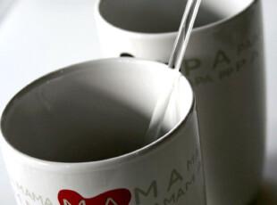 瑞典 实体店畅销款 PAPA&MAMA 爱心陶瓷杯|马克杯 情侣杯,杯子,
